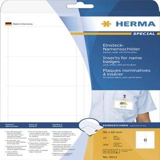 Herma 9012 nicht klebend Namensetiketten 9x6 cm (25 Blatt (200