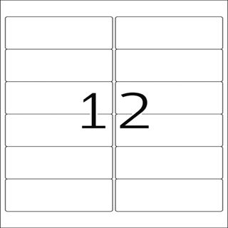 Herma 10017 repositionierbar Adressetiketten 9.91x4.23 cm (25 Blatt