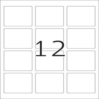 Herma 10109 quadratisch ablösbar Universal-Etiketten 6.0x6.0 cm