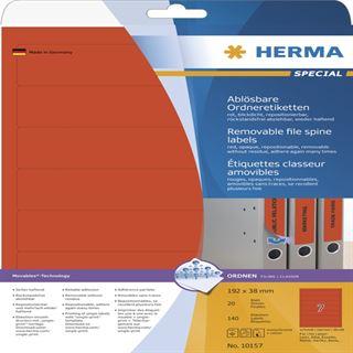 Herma 10157 ablösbar Ordneretiketten 19.8x3.8 cm (20 Blatt (140