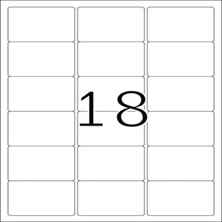 Herma 10302 ablösbar Universal-Etiketten 6.35x4.66 cm (100 Blatt