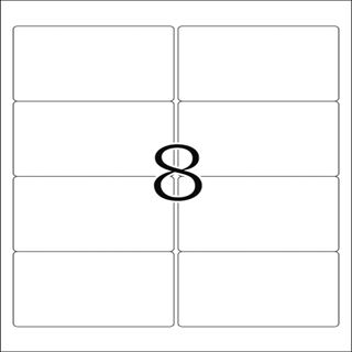Herma 10308 ablösbar Universal-Etiketten 9.6x6.35 cm (100 Blatt