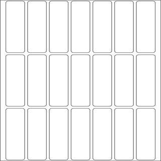 Herma 10606 ablösbar Vielzwecketiketten 1.3x5 cm (32 Blatt (672