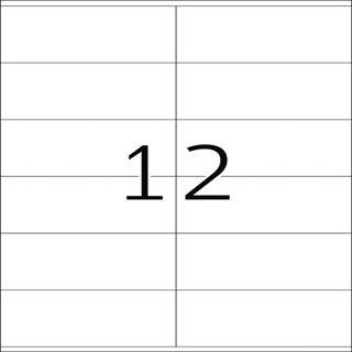 Herma 10828 Recycling Universal-Etiketten 10.5x4.8 cm (100 Blatt