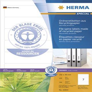 Herma 10834 Recyclingpapier Ordneretiketten 19.2x3.8 cm (100 Blatt
