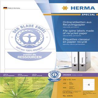 Herma 10835 recylingbar Ordneretiketten 19.2x6.1 cm (100 Blatt (400