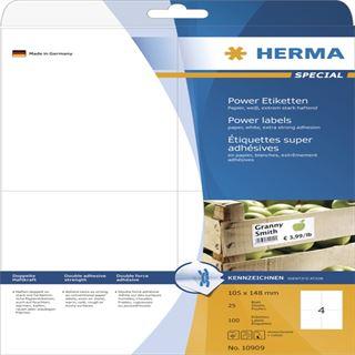Herma 10909 Universal-Etiketten 10.5x14.8 cm (25 Blatt (100