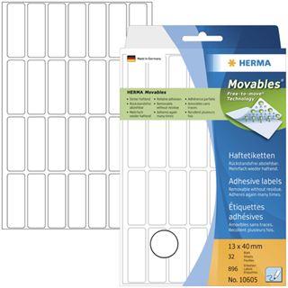 Herma Vielzwecketiketten weiß 13x40 mm ablösbar 896 St.