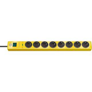 2.00m Brennenstuhl Steckdosenleiste mit Schalter Gelb 8 (1150610368)