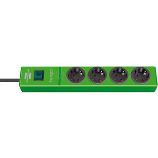 1.50m Brennenstuhl Steckdosenleiste mit Schalter Grün 4