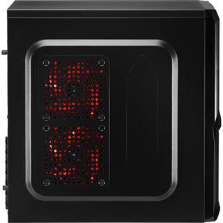AeroCool V3X Black Edition Midi Tower ohne Netzteil schwarz