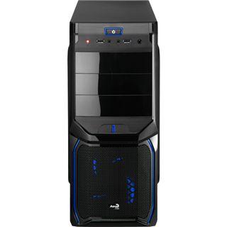 AeroCool V3X Evil Blue Edition Midi Tower ohne Netzteil schwarz/blau