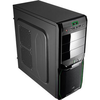 AeroCool V3X Evil Green Edition Midi Tower ohne Netzteil schwarz/gruen