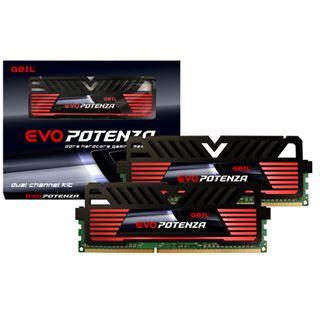 16GB GeIL EVO Potenza Onyx schwarz DDR3-1600 DIMM CL10 Dual Kit