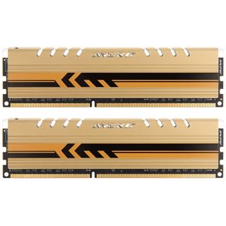 8GB Avexir Core Series goldene LED DDR3-1600 DIMM CL9 Dual Kit