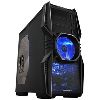 Raidmax Super Aeolus mit Sichtfenster Midi Tower ohne Netzteil schwarz