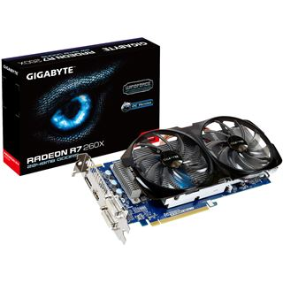 2GB Gigabyte Radeon R7 260X Windforce 2X OC Aktiv PCIe 3.0 x16