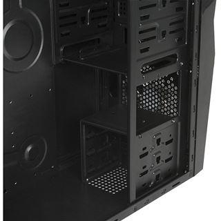 Cooltek X2 Midi Tower ohne Netzteil schwarz