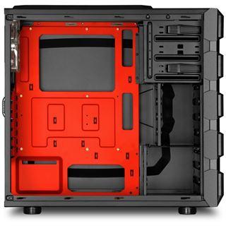 Sharkoon Bulldozer rot beleuchtet mit Sichtfenster Midi Tower ohne