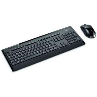 Fujitsu LX901 Wireless Desktop Deutsch USB schwarz