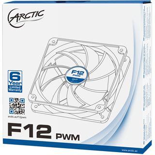 Arctic F12 PWM 120x120x25mm 600-1350 U/min 35 dB(A) schwarz/weiß