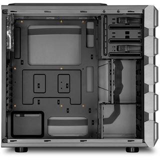 Sharkoon BD28 mit Sichtfenster Midi Tower ohne Netzteil Gunmetal