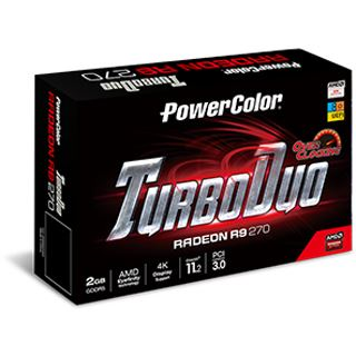2GB PowerColor Radeon R9 270 TurboDuo Aktiv PCIe 3.0 x16 (Retail)