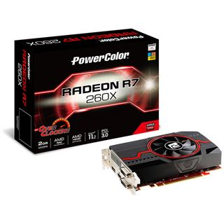 2GB PowerColor Radeon R7 260X OC Aktiv PCIe 3.0 x16 (Retail)