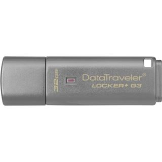 32 GB Kingston DataTraveler Locker+ G3 grau USB 3.0