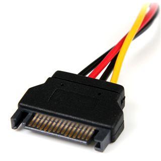 (€46,00*/1m) 0.15m Startech SATA Adapterkabel Molex-Stecker auf