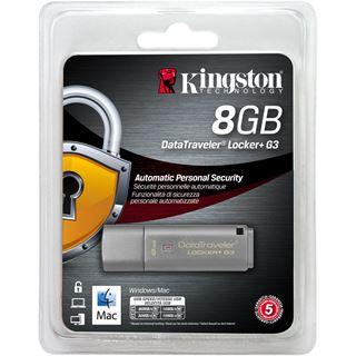 8 GB Kingston DataTraveler Locker+ G3 grau USB 3.0