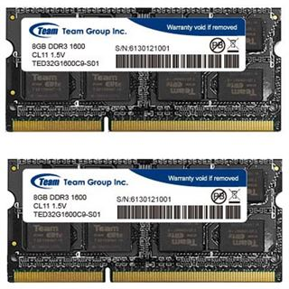 16GB TeamGroup Elite Series DDR3L-1600 SO-DIMM CL11 Dual Kit