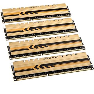 16GB Avexir Core Series GOLD gelbe LED DDR3-2133 DIMM CL11 Quad Kit