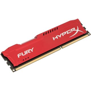 4GB HyperX FURY rot DDR3-1600 DIMM CL10 Single
