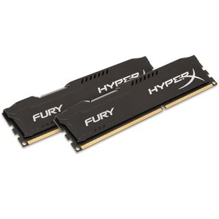 16GB HyperX FURY schwarz DDR3-1600 DIMM CL10 Dual Kit
