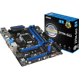 MSI Z97M-G43 Intel Z97 So.1150 Dual Channel DDR3 mATX Retail