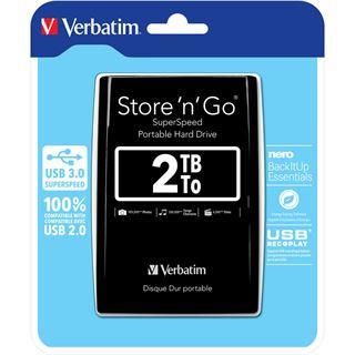 "2000GB Verbatim Store n Go 53177 2.5"" (6.4cm) USB 3.0 schwarz"