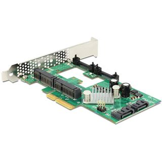 Delock 89372 4 Port PCIe 2.0 x4 inkl. Low Profile Slotblech / Low