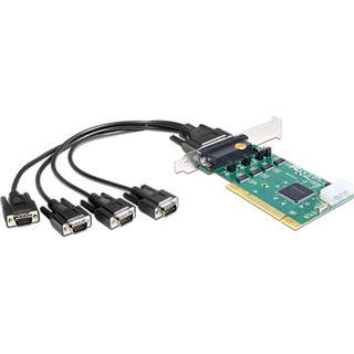 Delock PCI Card 4x Seriell RS-232 High Speed 921K