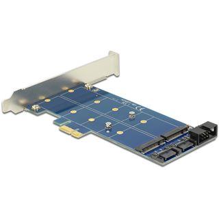 Delock PCIe 2x M.2 NGFF Sata + USB