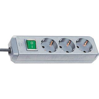1.50m Brennenstuhl Eco-Line Steckdosenleiste mit Schalter Silber 3