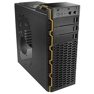 Raidmax Seiran II Midi Tower ohne Netzteil schwarz/orange
