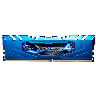 16GB G.Skill RipJaws 4 blau DDR4-2400 DIMM CL15 Quad Kit