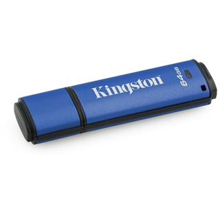 64 GB Kingston DataTraveler Vault Privacy blau/schwarz USB 3.0