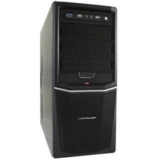 LC-Power Pro-924B Midi Tower 350 Watt schwarz