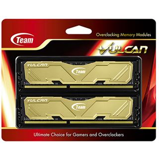 8GB TeamGroup Vulcan Series gold DDR3-1866 DIMM CL9 Dual Kit