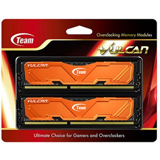 8GB TeamGroup Vulcan Series orange DDR3-1600 DIMM CL9 Dual Kit