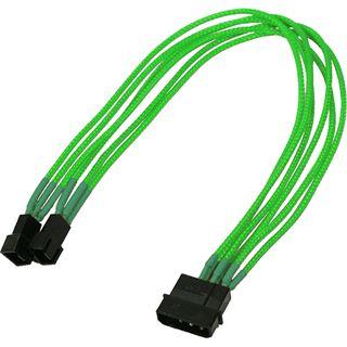 Nanoxia 30 cm sleeved neon grünes Adapterkabel für 4-Pin