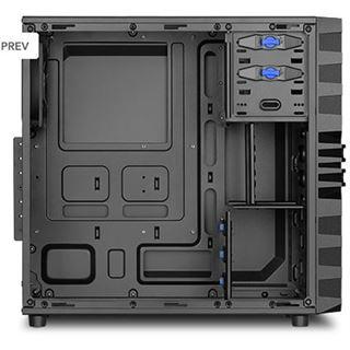 Sharkoon VG4-V Midi Tower ohne Netzteil schwarz