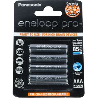 Panasonic eneloop pro HR03 Nickel-Metall-Hydrid AAA Micro Akku 930